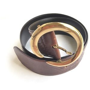 Vintage Saks Fifth Avenue Brown Leather Belt